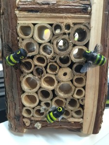 Mersey tunnel bamboo tubes for solitary bees!