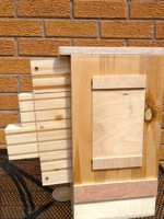 Wild Bee Box with easy interchangeable nest blocks for other species
