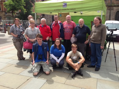 WDC group and RSPB staff Manchester, Nurturing Nature