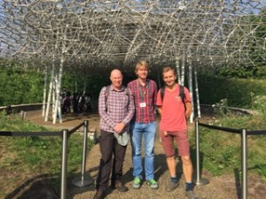 Myself, Hauke and Dave next to the Hive at Kew Gardens
